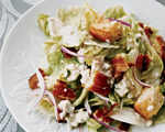 Iceberg Salad with Bacon and Blue Cheese