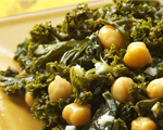 Indian-Spiced Kale & Chickpeas