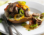 Italian Open-Faced Beef Sandwiches