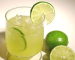 Key Lime and Coconut Caipirinha