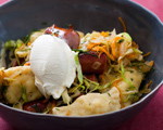 Kielbasa and Pierogis with Sauteed Cabbage
