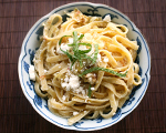 Linguine with Leeks and Prosciutto