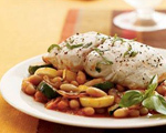 Mahi Mahi with Squash and Beans