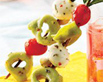 Marinated Tortellini and Cheese Kabobs