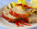 High fiber turkey meatloaf