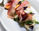 Melon and Peach Salad with Prosciutto and Mozzarella
