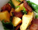 Melon, Arugula and Bacon Salad