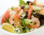 Melon, Feta and Shrimp Salad
