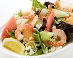 Melon, Feta and Shrimp Salad