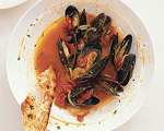 Mussels in Aromatic Saffron and White Wine Broth