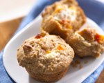 Oat and Peach Muffins