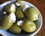 Olives Stuffed with Gorgonzola Cheese