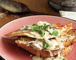 Open face chicken sandwich