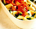 Pappardelle Pasta with Chicken and Peas