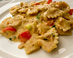 Pasta and Vegetables with Cream Sauce