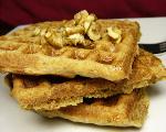 Crunchy Pecan Waffles