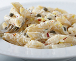 Penne with Fresh Ricotta, Capers, Lemon, and Chili