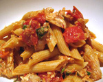 Penne with Roasted Tomatoes and Chicken