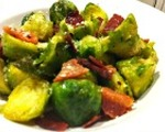 Roasted bacon & garlic Brussels sprouts