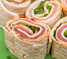 Basic Ham and Onion Pinwheels
