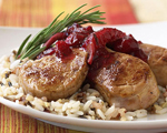 Pork Tenderloin with Apple Cranberry Chutney