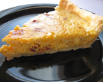 Quiche Lorraine with Bacon and Swiss Cheese