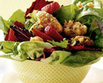 Quick-Fried Chicken Salad with Strawberries