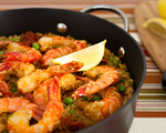 Quinoa Paella with Shrimp