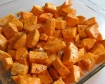 Roasted Sweet Potatoes with Garlic