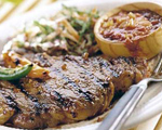 Rib-Eye Steaks with Chipotle Pepper Sauce