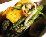 Roasted Asparagus and Beets with Spring Onions