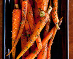 Roasted Baby Carrots with Herbed Mustard Butter