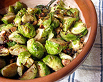 Roasted Brussels Sprouts with Browned Butter and Hazelnuts