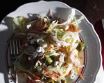 Roasted Chicken and Prosciutto Salad with Cabbage, Fennel and Feta