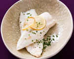 Roasted Halibut with Olive Oil and Lemon