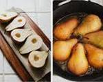 Roasted pears with agave cinnamon sauce