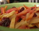 Root Vegetable and Dried Cranberry Salad