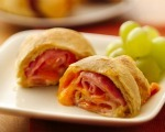 Baked Ham & Cheese Rolls