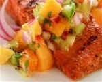 Grilled Salmon with Fruit Salsa