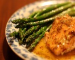 Soy Marinated Chicken with Asparagus