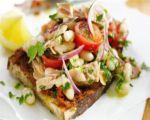White bean and shrimp salad