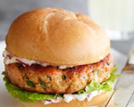 Salmon Burgers with Lemony Mayonnaise