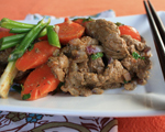 Sautéed Spicy Beef with Carrots