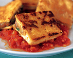 Sautéed Tofu with Fresh Tomato and Mushroom Sauce