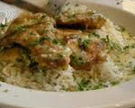 Baked Chicken Scampi and Rice