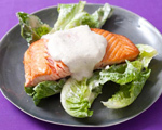 Seared Salmon with Creamy Caesar