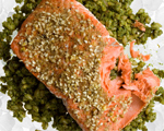 Seared Salmon with Spicy Moroccan Crust