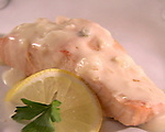 French Poached Salmon with Truffle Sauce