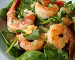Shrimp, Asparagus and Chive Salad