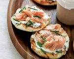 Smoked Trout with Caper and Cream Cheese Toasts